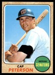 1968 Topps #188  Cap Peterson  Front Thumbnail