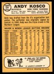 1968 Topps #524  Andy Kosco  Back Thumbnail