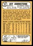 1968 Topps #389  Jay Johnstone  Back Thumbnail