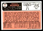 1966 Topps #499  Wally Bunker  Back Thumbnail