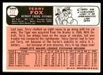 1966 Topps #472  Terry Fox  Back Thumbnail