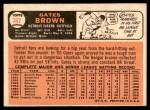 1966 Topps #362  Gates Brown  Back Thumbnail