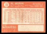1964 Topps #288  Al Moran  Back Thumbnail