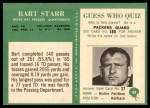 1966 Philadelphia #88  Bart Starr  Back Thumbnail