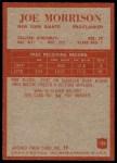 1965 Philadelphia #120  Joe Morrison   Back Thumbnail