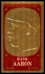 1965 Topps Embossed #59   Hank Aaron   Front Thumbnail