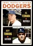 1964 Topps #337   -  Al Ferrara / Jeff Torborg Dodgers Rookies Front Thumbnail