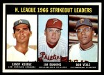 1967 Topps #238   -  Sandy Koufax / Jim Bunning / Bob Veale NL Strikeout Leaders Front Thumbnail