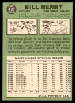 1967 Topps #579  Bill Henry  Back Thumbnail