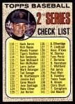 1968 Topps #107 TCH  -  Juan Marichal Checklist 2 Front Thumbnail