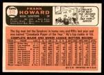 1966 Topps #515  Frank Howard  Back Thumbnail