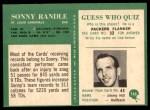 1966 Philadelphia #165  Sonny Randle  Back Thumbnail