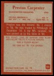 1965 Philadelphia #185  Preston Carpenter   Back Thumbnail