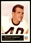 1965 Philadelphia #185  Preston Carpenter   Front Thumbnail