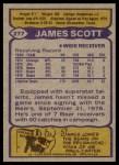 1979 Topps #277  James Scott  Back Thumbnail