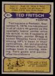 1979 Topps #61  Ted Fritsch Jr.  Back Thumbnail