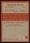 1965 Philadelphia #25  Roosevelt Taylor   Back Thumbnail