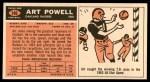 1965 Topps #146  Art Powell  Back Thumbnail