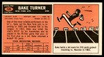 1965 Topps #129  Bake Turner  Back Thumbnail