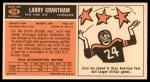 1965 Topps #114  Larry Grantham  Back Thumbnail
