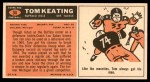 1965 Topps #34  Tom Keating  Back Thumbnail