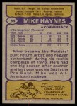 1979 Topps #35  Mike Haynes  Back Thumbnail