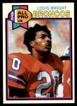 1979 Topps #340  Louis Wright  Front Thumbnail
