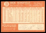 1964 Topps #284  Dick Schofield  Back Thumbnail