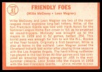 1964 Topps #41   -  Willie McCovey / Leon Wagner Friendly Foes Back Thumbnail