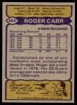 1979 Topps #325  Roger Carr  Back Thumbnail