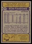 1979 Topps #359  Bob Parsons  Back Thumbnail