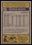 1979 Topps #504  Herman Weaver  Back Thumbnail