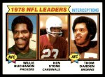 1979 Topps #5   -  Willie Buchanon / Ken Stone / Thom Darden Interception Leaders Front Thumbnail