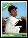 1966 Topps #176  Jim Davenport  Front Thumbnail
