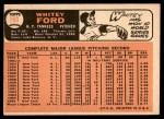 1966 Topps #160  Whitey Ford  Back Thumbnail