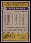 1979 Topps #179  Mike Phipps  Back Thumbnail