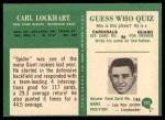 1966 Philadelphia #125  Spider Lockhart  Back Thumbnail