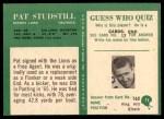 1966 Philadelphia #75  Pete Studstill  Back Thumbnail