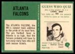 1966 Philadelphia #1   Falcons Logo Back Thumbnail