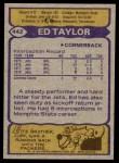 1979 Topps #442  Ed Taylor  Back Thumbnail