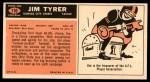 1965 Topps #110  Jim Tyrer  Back Thumbnail
