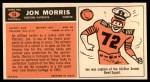 1965 Topps #14  Jon Morris  Back Thumbnail