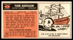 1965 Topps #1   Tommy Addison  Back Thumbnail
