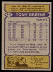 1979 Topps #118  Tony Greene  Back Thumbnail