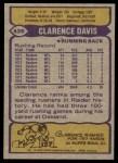 1979 Topps #439  Clarence Davis  Back Thumbnail
