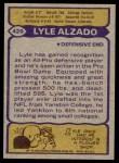 1979 Topps #420  Lyle Alzado  Back Thumbnail