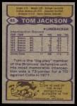 1979 Topps #83  Tom Jackson  Back Thumbnail