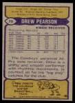 1979 Topps #70  Drew Pearson  Back Thumbnail