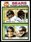 1979 Topps #132   Bears Leaders Checklist Front Thumbnail