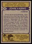 1979 Topps #78  John Yarno  Back Thumbnail